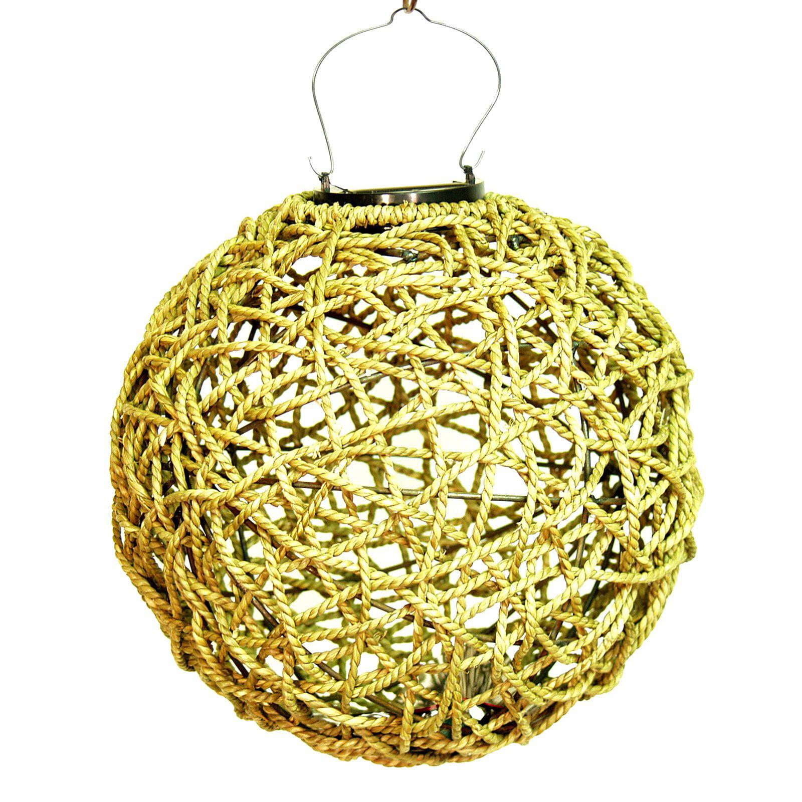"Echo Valley 4581 10"" Hanging Seagrass Solar Lumisphere Lantern"