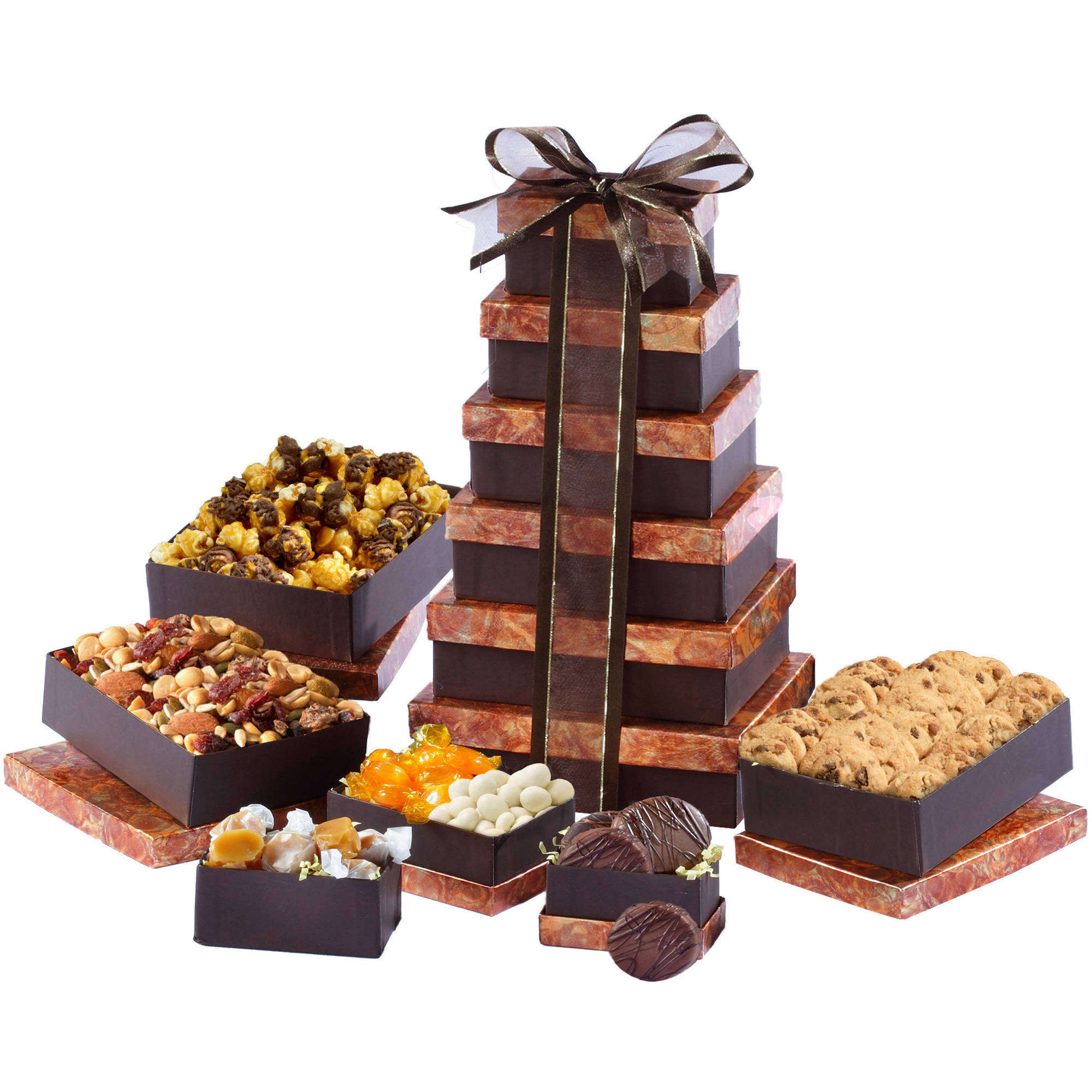 Broadway Basketeers Lasting Impressions Gourmet Delights Gift Tower, 8 pc