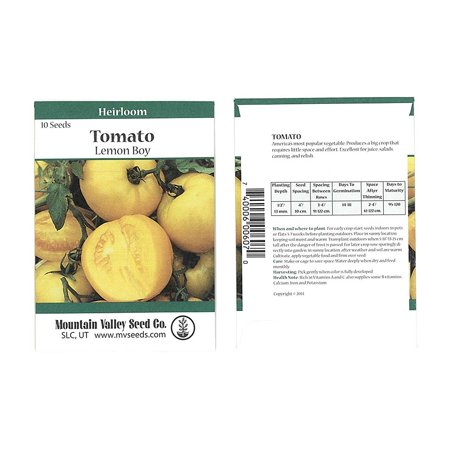 - Tomato Garden Seeds - Lemon Boy Hybrid - 10 Seed Packet - Non-GMO, Vegetable Gardening Seed, Tomato Seeds - Lemon Boy Hybrid - 10 Seed Packet.., By Mountain Valley Seed Company Ship from US