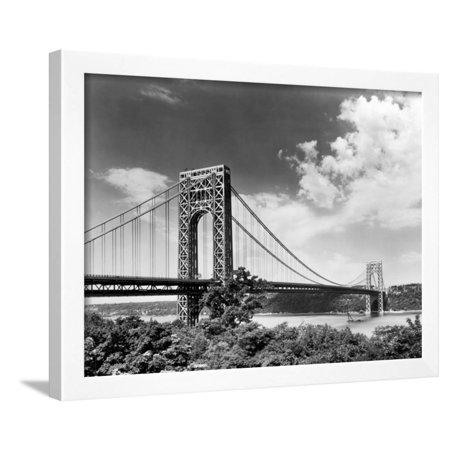 Bridge Framed Art Print (George Washington Bridge Framed Print Wall Art )