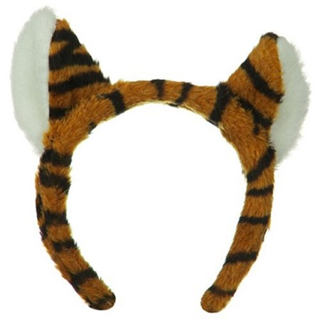 Plush Tiger Ears Headband Adult Child Animal Headpiece Costume Accessory Hat