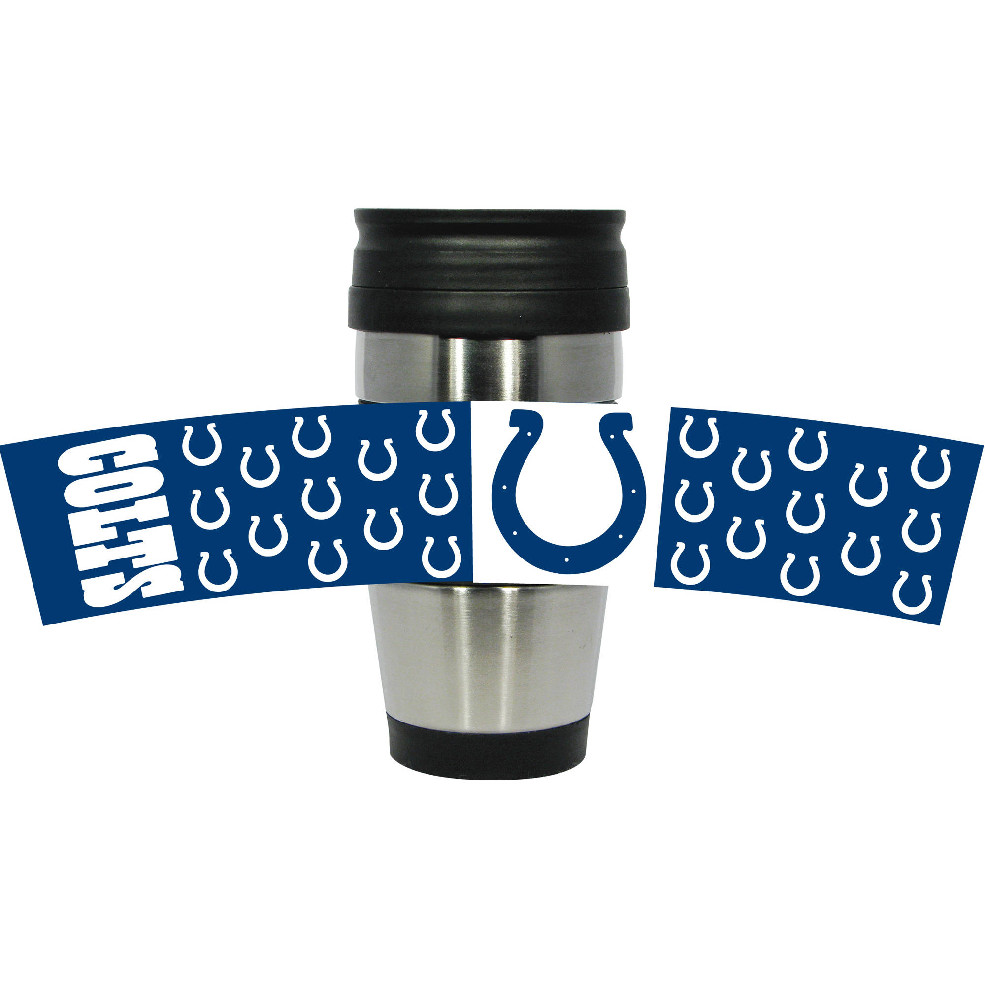NFL Indianapolis Colts 15-Ounce Stainless Steel Travel Tumbler with 3D Logo Wrap