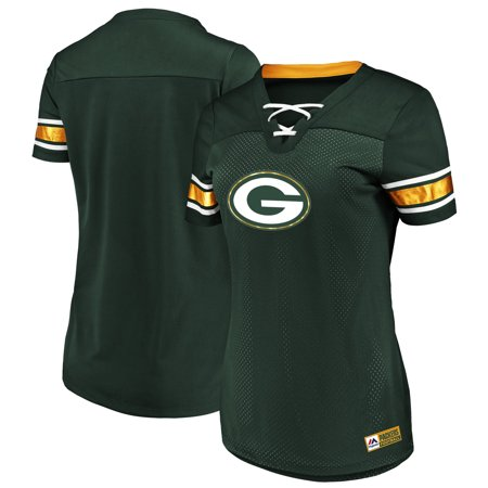 Green Bay Packers Majestic Women's Game Day Draft Me V-Neck T-Shirt - Green