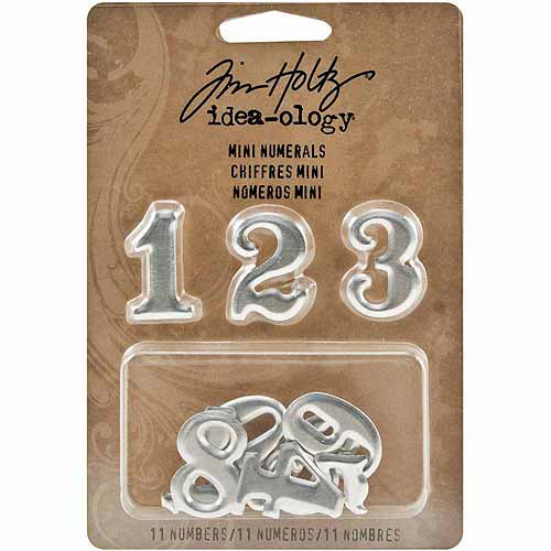 "Idea-Ology Mini Numerals, .75"" x 1"", 11/pkg, 0-9 Plus 1/2"