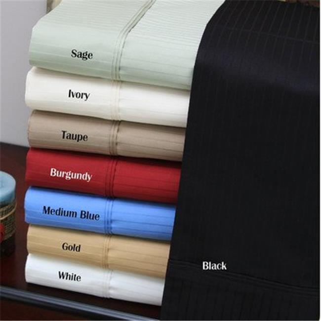 Impressions 800SDPC STGL 800 Standard Pillow Cases, Egyptian Cotton Stripe - Gold