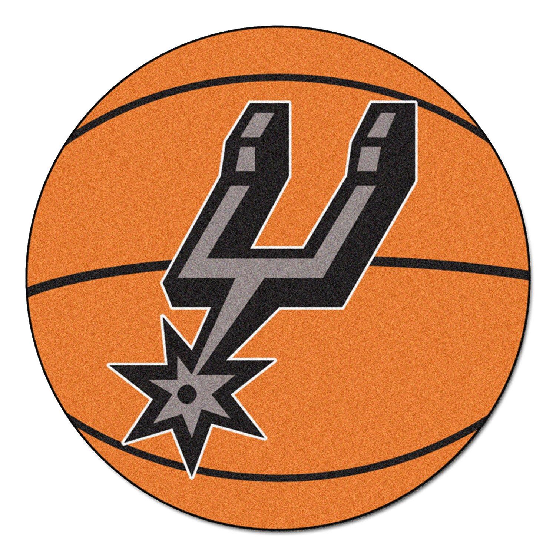 NBA San Antonio Spurs Nylon Face Basketball Rug Basketball Mat..., By Fanmats Ship from US