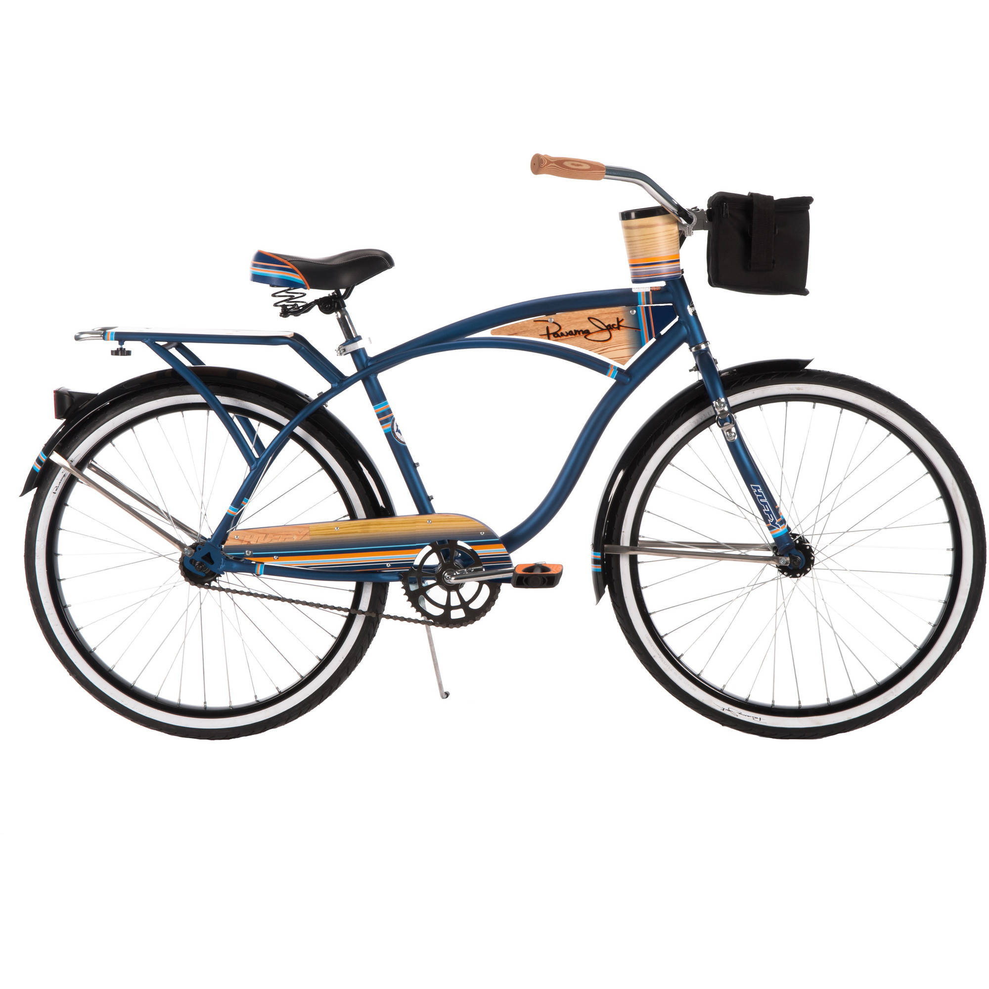 26quot Huffy Men39s Panama Jack Cruiser Bike Midnight Blue  Walmartcom
