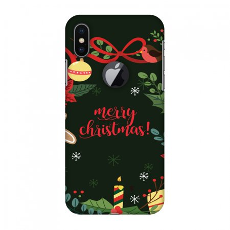 Christmas Iphone X Case.Iphone X Case Christmas Cheer 1 Hard Plastic Back Cover Slim Profile Cute Printed Designer Snap On Case With Screen Cleaning Kit