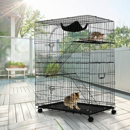 2 Tier Cat Playpen Cat Cage Ps6471 Sd Walmartcom