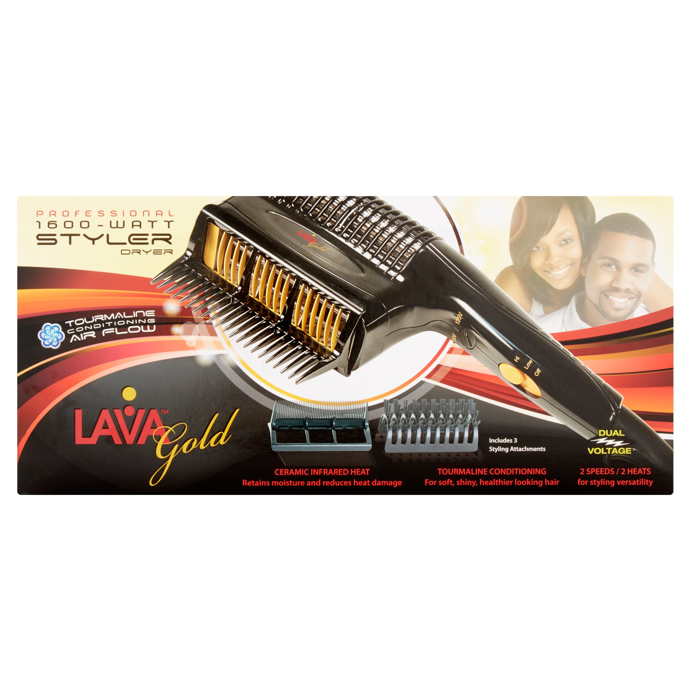 Lava Gold Professional 1600 - Watt Styler Dryer