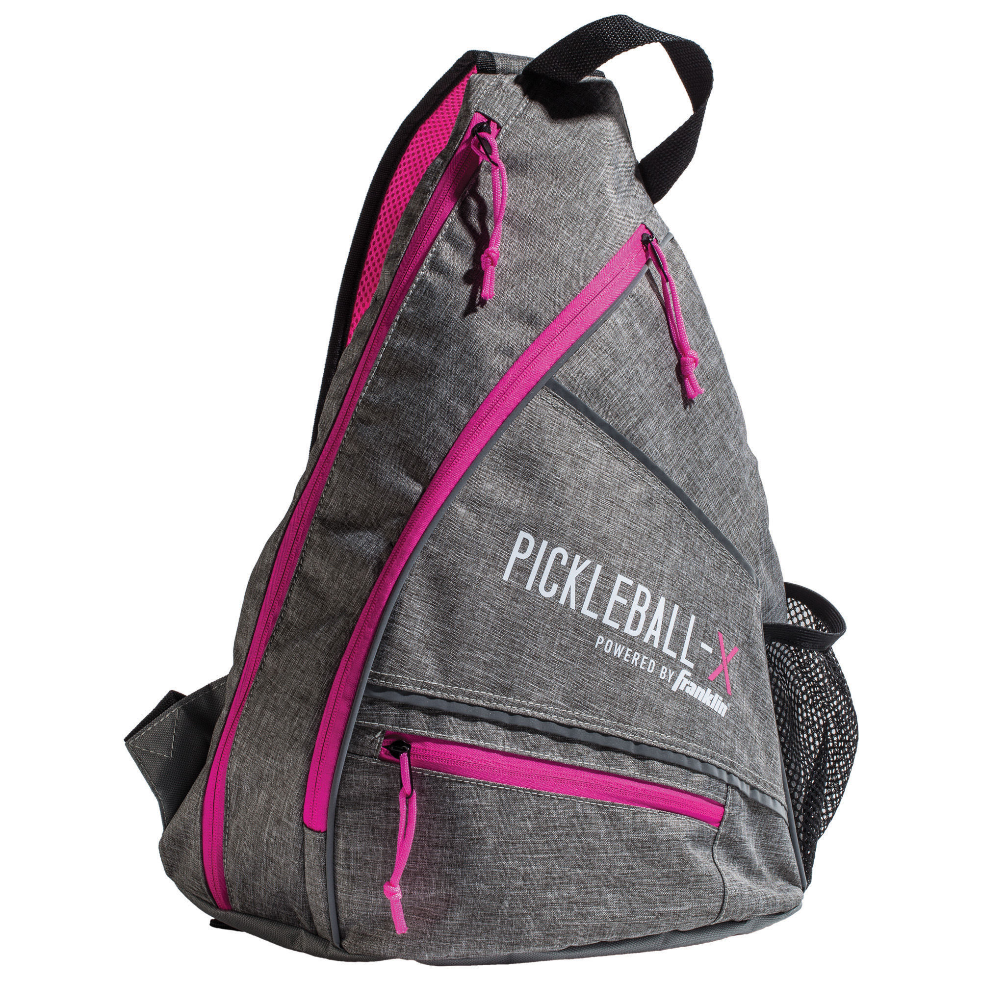 Pickleball-X Elite Performance Sling Bag - Official Bag of the US OPEN (Gray/Pink)