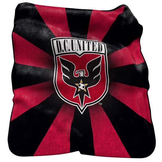 "DC United Official MLS 50""x60"" Raschel Throw Blanket by Logo 905264"