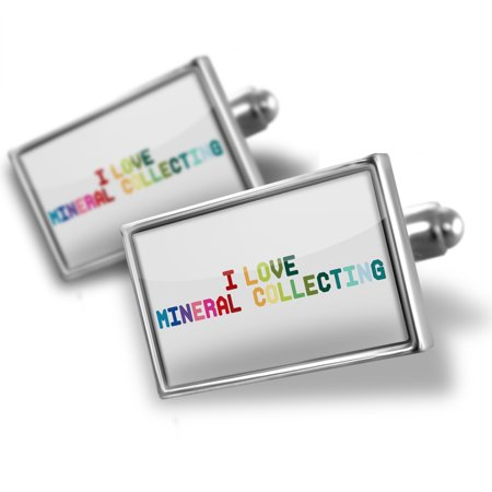 Cufflinks I Love Mineral Collecting Colorful   Neonblond