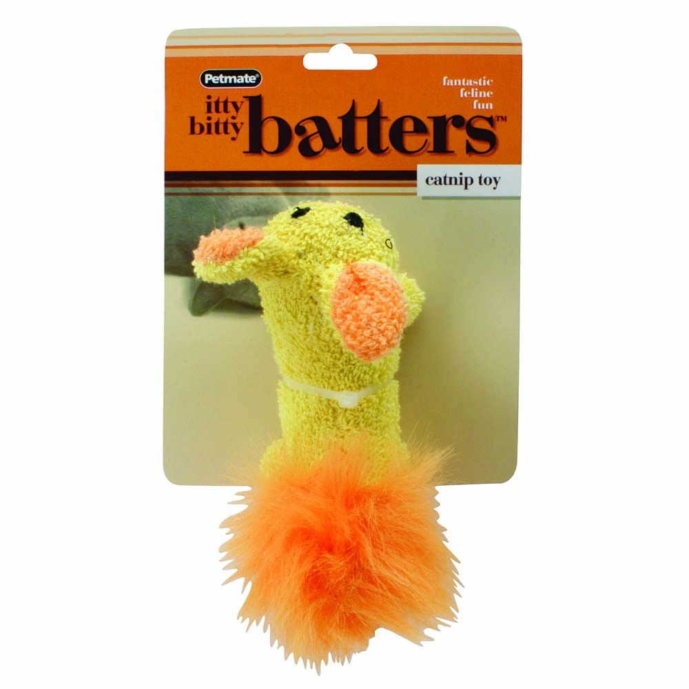 Aspen Booda Itty Bitty Batters Rabbit Catnip Filled Cat Fun Interactive Toy