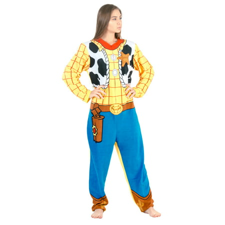 Toy Story Sheriff Woody Union Suit Costume - Adult Toy Story Woody Costume