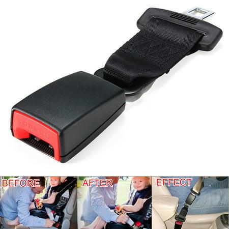 Rhinestone Set Belt Buckle (9/14 Inches Universal Car Vehicle Seat Belt Strap Extender Extension Buckle SUV Van Truck E11 Safety)