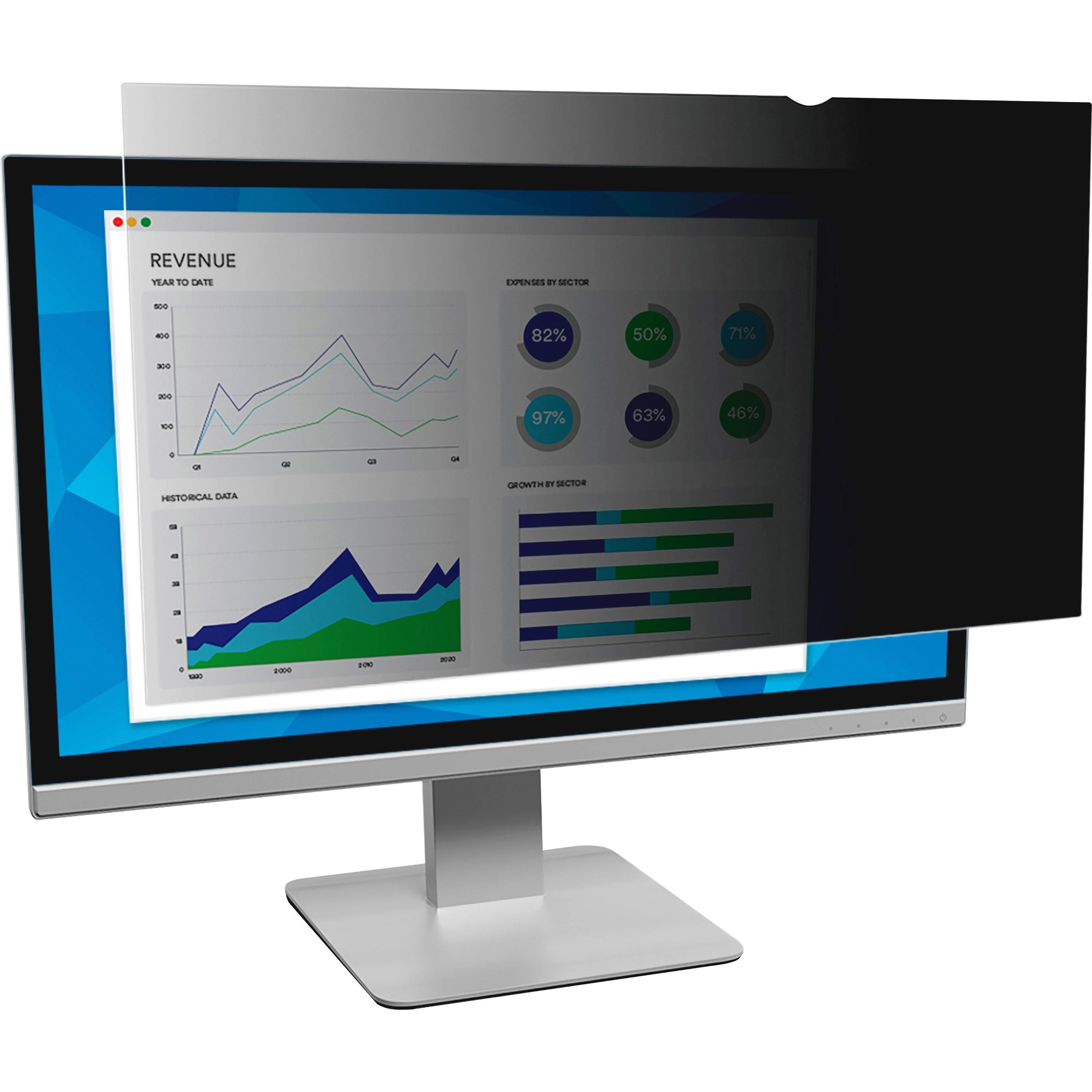 "3M, MMMPF190W1B, Privacy Filter for 19"" Widescreen Monitor (16:10) (PF190W1B), Black,Matte,Glossy"