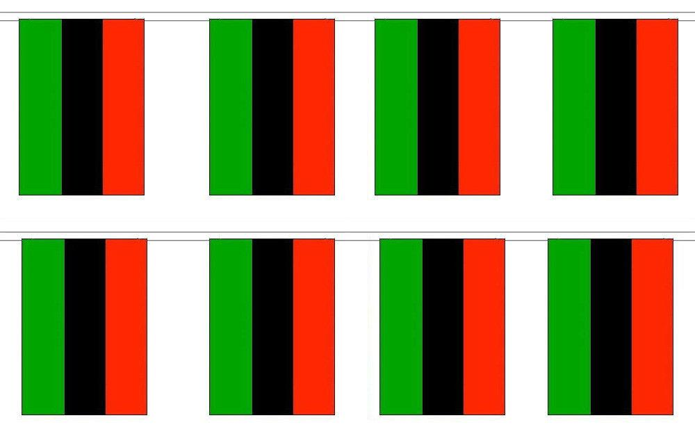 8 Flags Afro American Africa 12x18 Bunting String Flag Banner