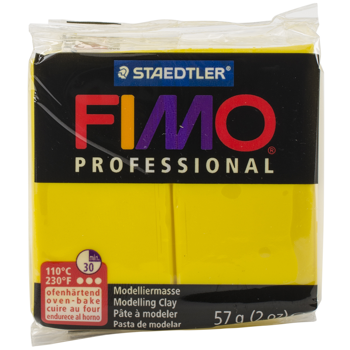 Fimo Professional Soft Polymer Clay 2oz-Yellow