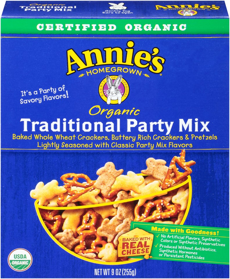 Annie's Homegrown Organic Traditional Party Mix 9 Oz by General Mills