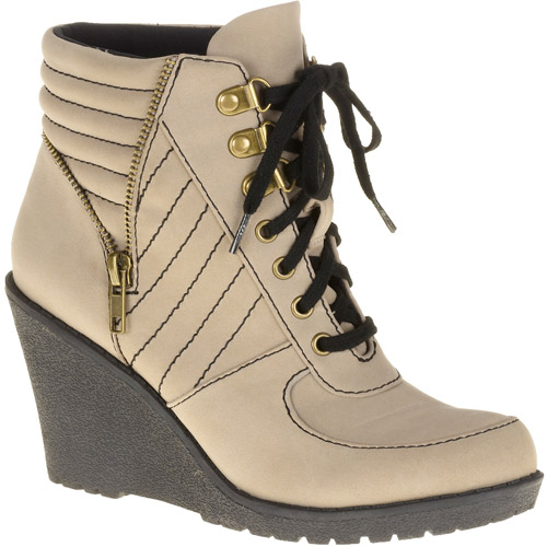 Mo Mo Women's Summit Wedge Lace-up Boot