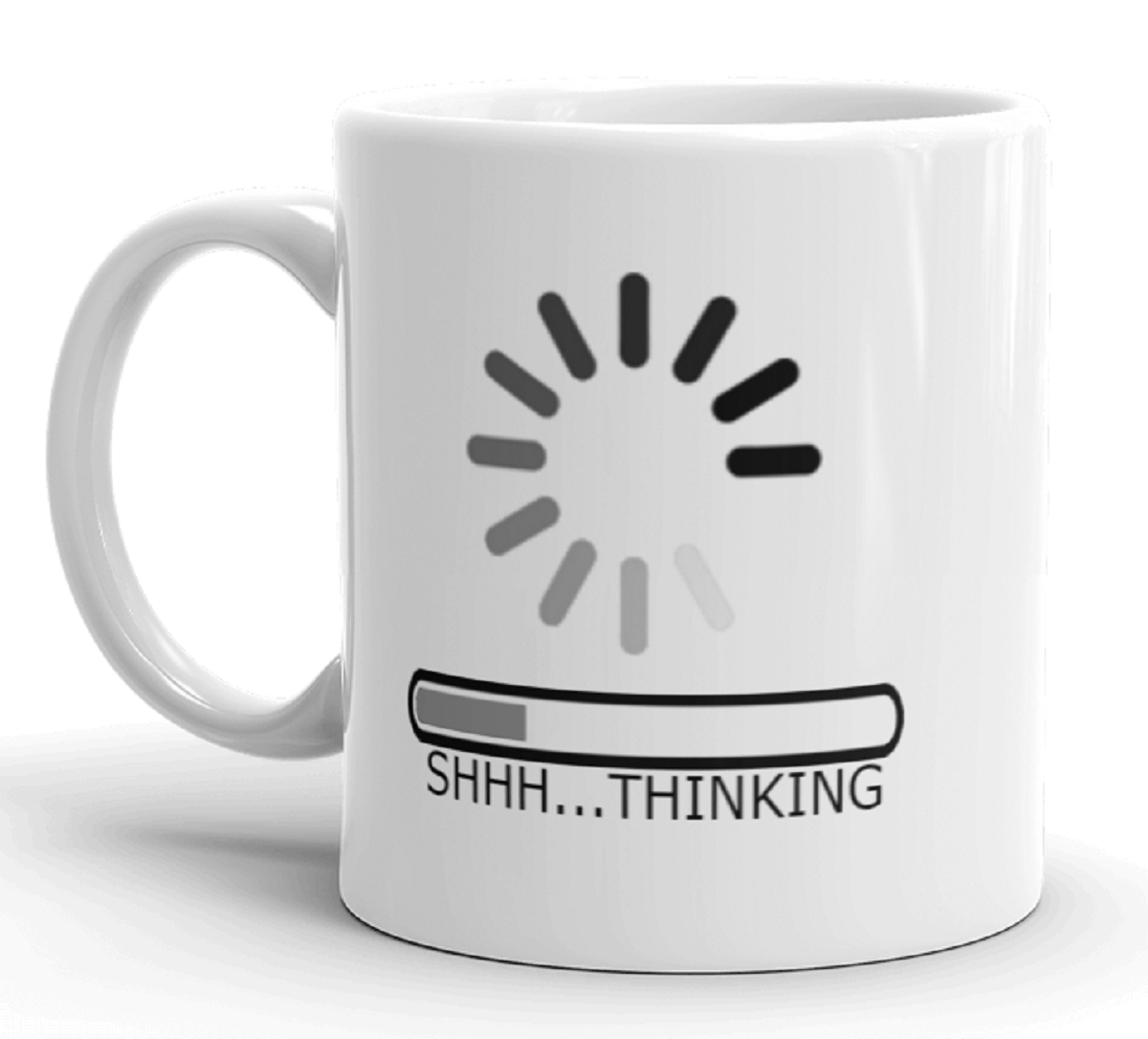 Funny Humor Thinking Computer Novelty Coffee Tea Mug 11 oz