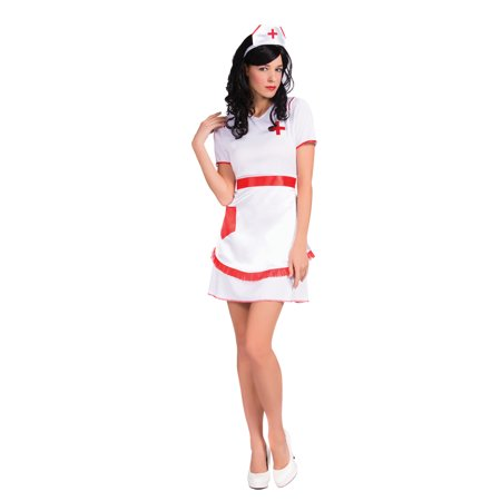 Women Nurse Uniform Hospital Scrubs Outfit Cosplay Halloween Costume