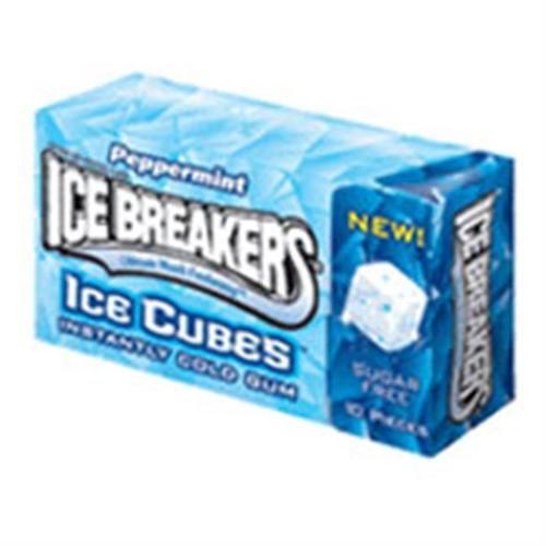 Ice Breakers Ice Cubes Peppermint Gum 8 packs (10 ct per pack) (Pack of 2)