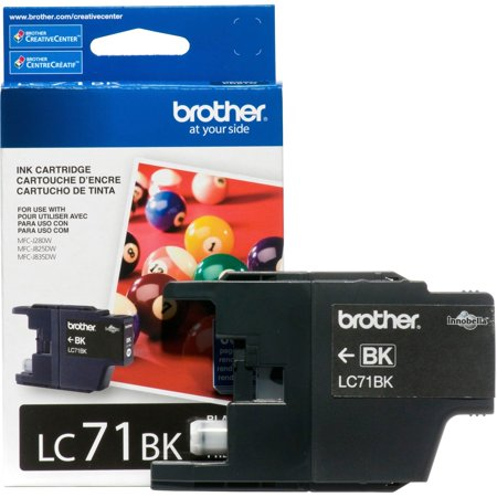 Brother Genuine Standard Yield Black Ink Cartridge, LC71BK, Replacement Black Ink, Page Yield Up To 300 Pages, LC71