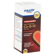 Equate Clinical Strength High Absorption CoQ-10 Softgels, 100 mg, 30 Count