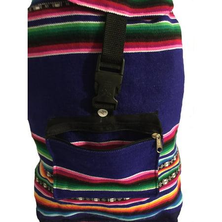 Navy Blue/Rainbow- Beach Bag, Backpack, Back Pack. Navy Blue Bag with Rainbow Stripes](Rainbow Bag)