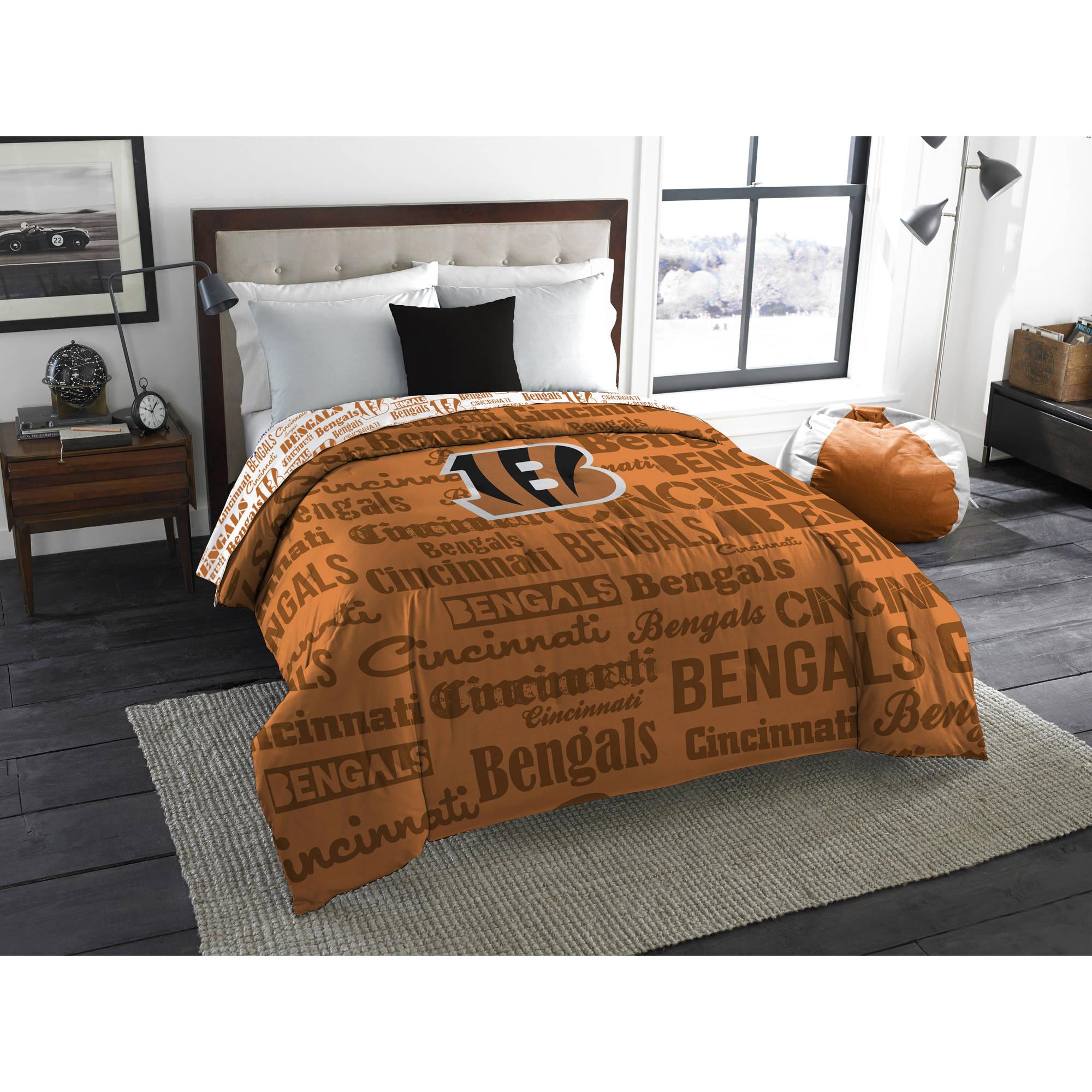 """NFL Cincinnati Bengals """"Anthem"""" Twin/Full Bedding Comforter"""