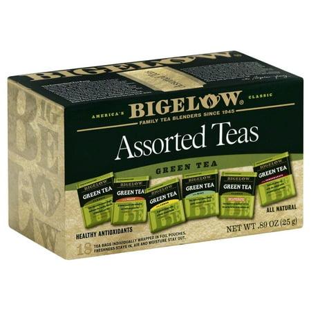 (2 Pack) Bigelow, 6 Assorted Green Teas, Tea Bags, 18 (Ack Green)