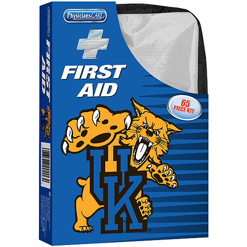 Physicians Care Kentucky Wildcats First Aid Kit, 65 pc