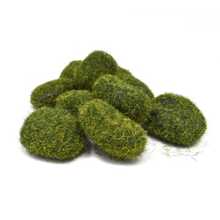 Artificial Mini Moss Stones, Moss Green, 1-3/4-Inch, -