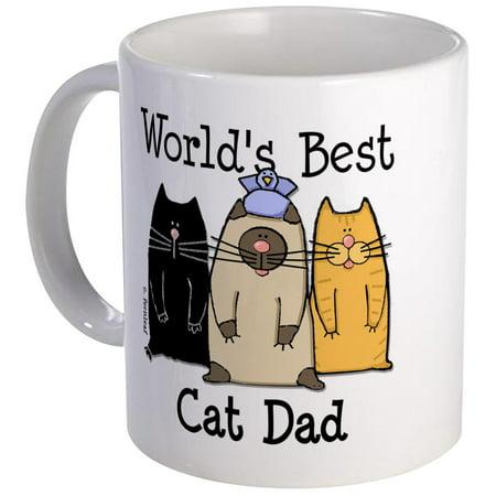 CafePress - World's Best Cat Dad Mug - Unique Coffee Mug, Coffee Cup CafePress