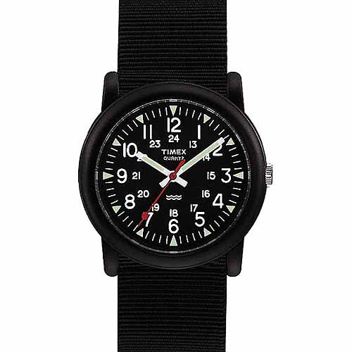 Timex Men's Camper Watch, Black Nylon Strap