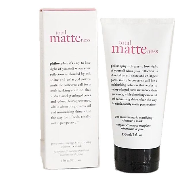Philosophy Total Matteness Pore Minimizing Cleanser And Mask Dual