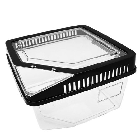 Transparent Breeding Box Incubator Terrarium Reptile Box Amphibian for Snake Cage Lizard Turtle Spider Reptile Combination ()