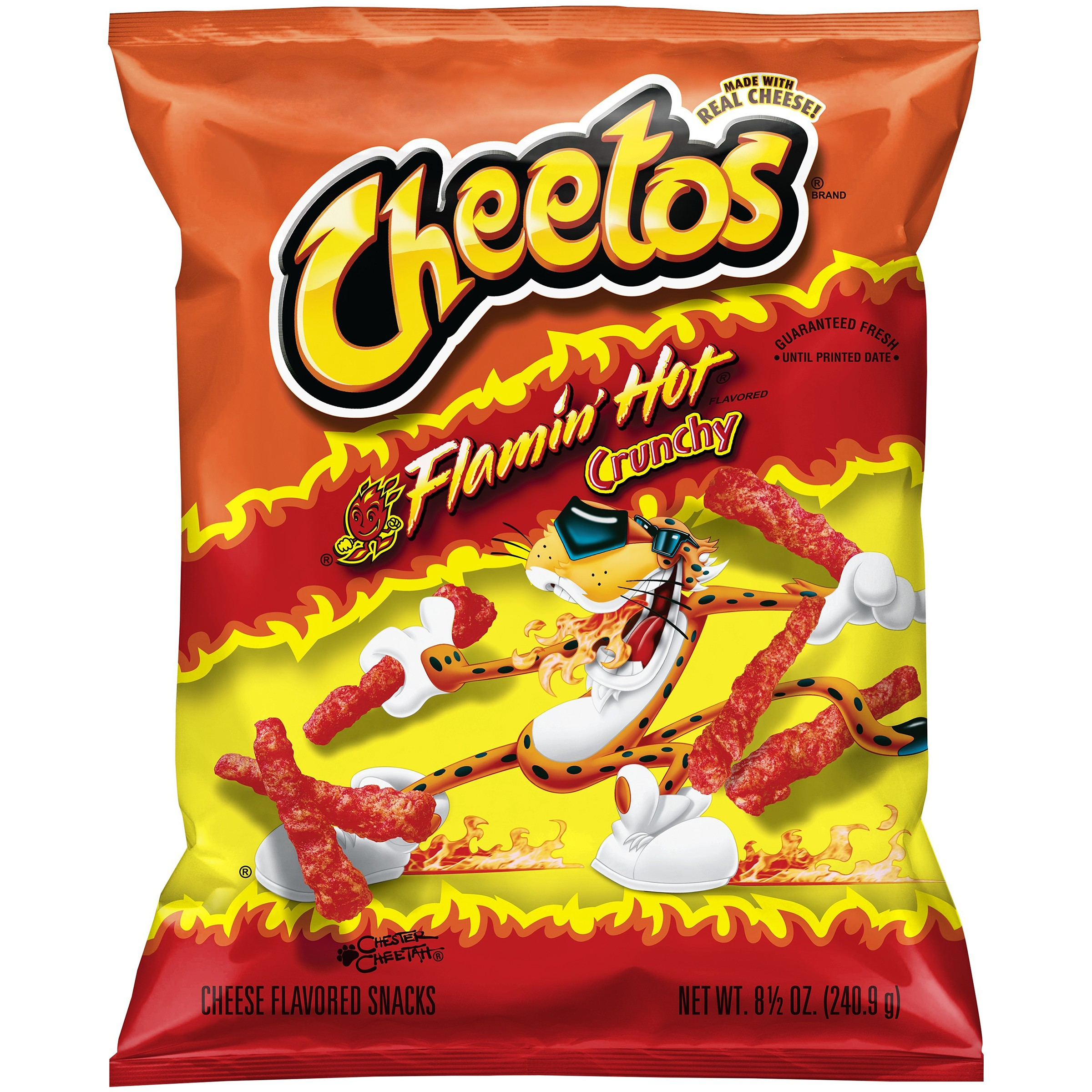 Cheetos Crunchy Cheese Flavored Snacks, Flamin' Hot, 8.5 Oz