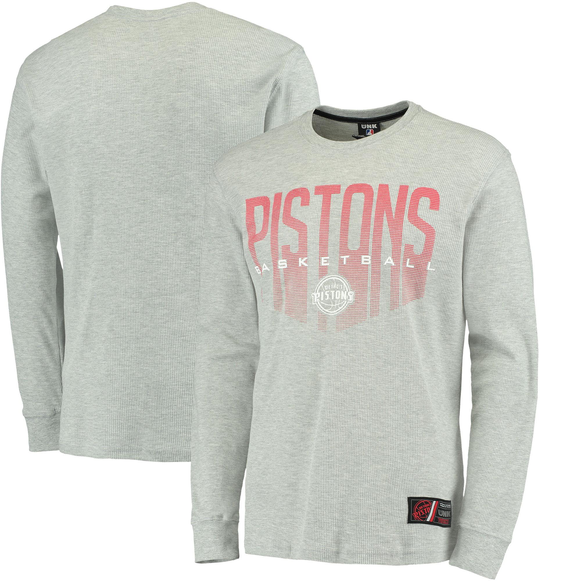 Detroit Pistons UNK Promo Core Long Sleeve Thermal T-Shirt - Gray