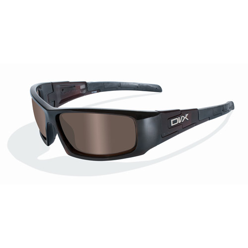 DVX Vizor Bronze Lens/ Brown Crystal Frame Rx-able Sunglasses