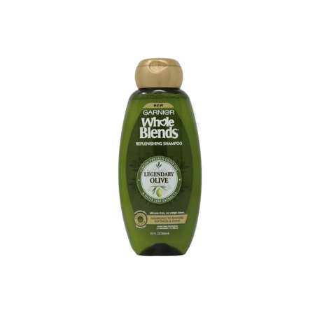 Garnier WholeBlends Replenishing Shampoo Legendary Olive, Dry Hair, 22