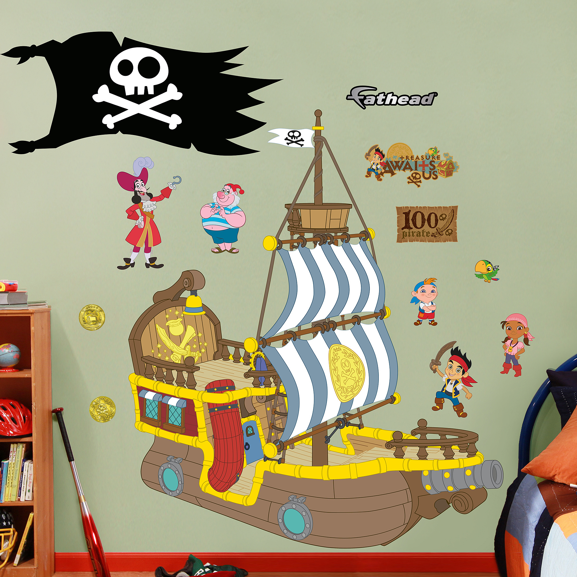 Disney Jake U0026 The Neverland Pirates Bucky Pirate Ship RealBig Fathead