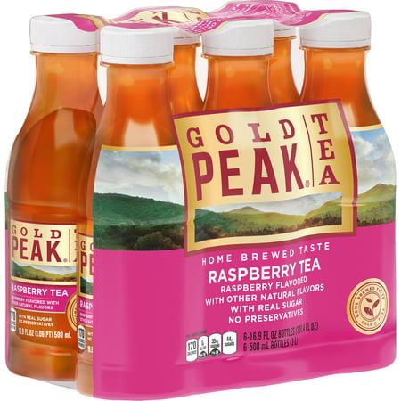 (2 Pack) Gold Peak Raspberry Tea, 16.9 Fl Oz, 6 Count