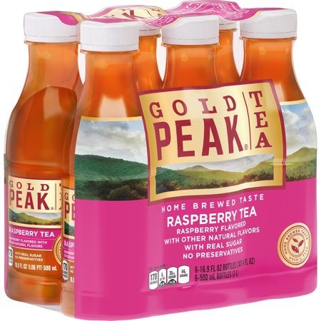 (2 Pack) Gold Peak Raspberry Tea, 16.9 Fl Oz, 6 Count