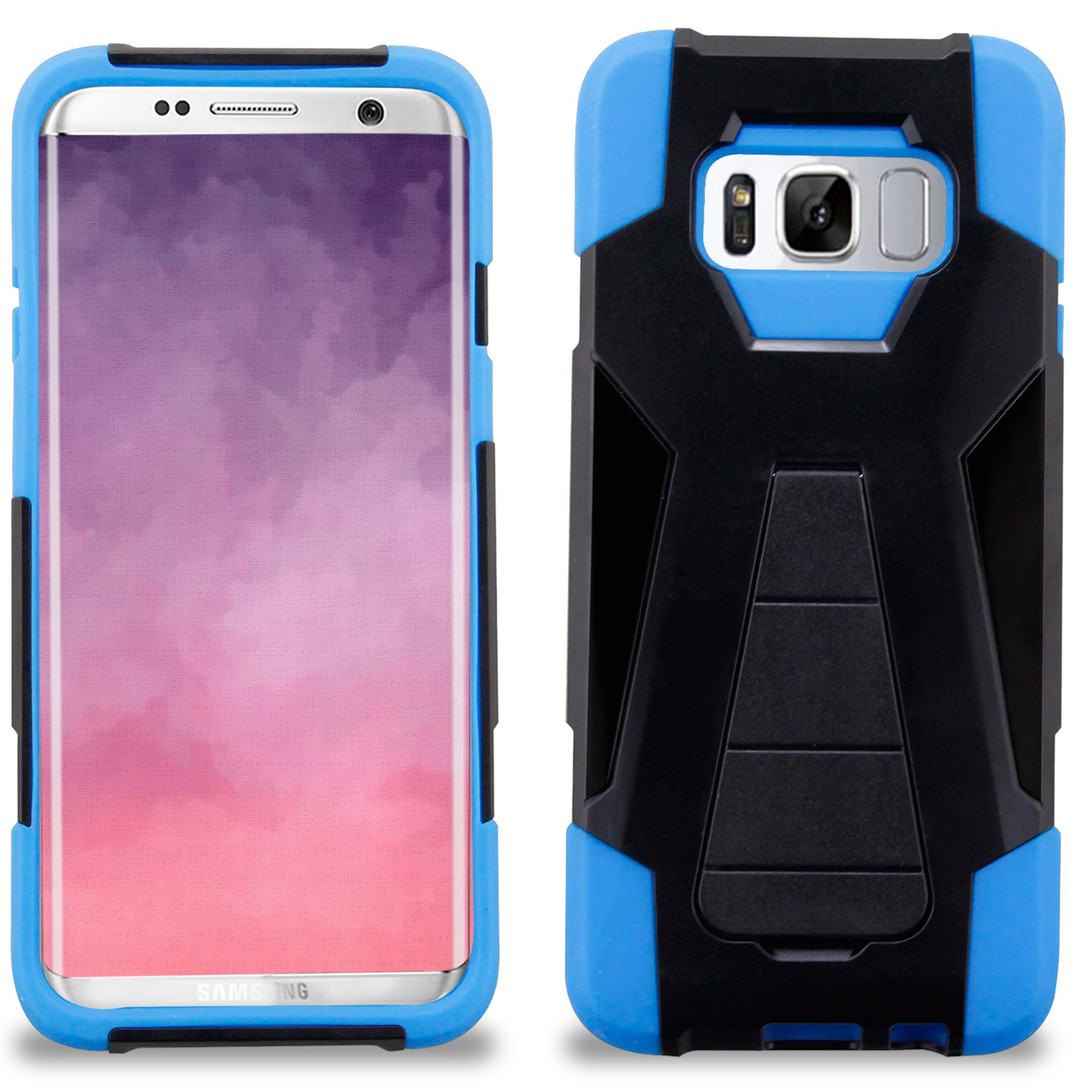 Samsung Galaxy S8 / S8 Plus Case, Zizo Dual Layer - Slim Fit Case w/ Kickstand