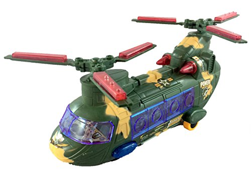 Toy Army Helicopter with Lights and Sound by Shopbox