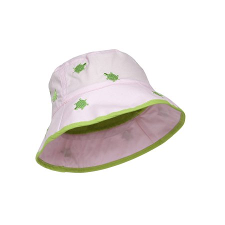 e2bc3810f4b Youth Canvas Tropical Bucket Hat - Pink Green Turtles - image 2 of 2 ...