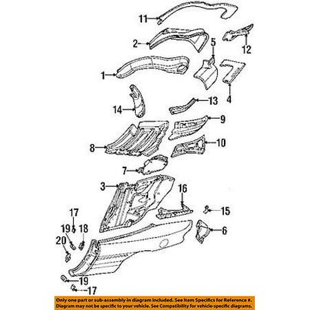 CHRYSLER OEM 96-00 Sebring Rear Fender-Liner Splash Shield